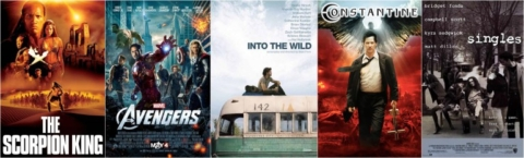 Grunge movie posters