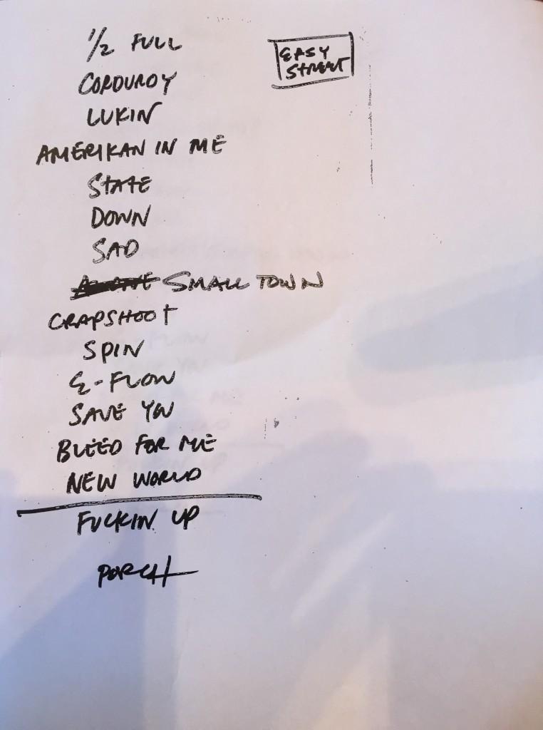 Easy Street Records setlist