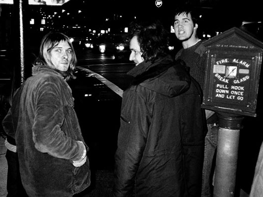 Everett True Kurt Cobain Krit Novoselic SF