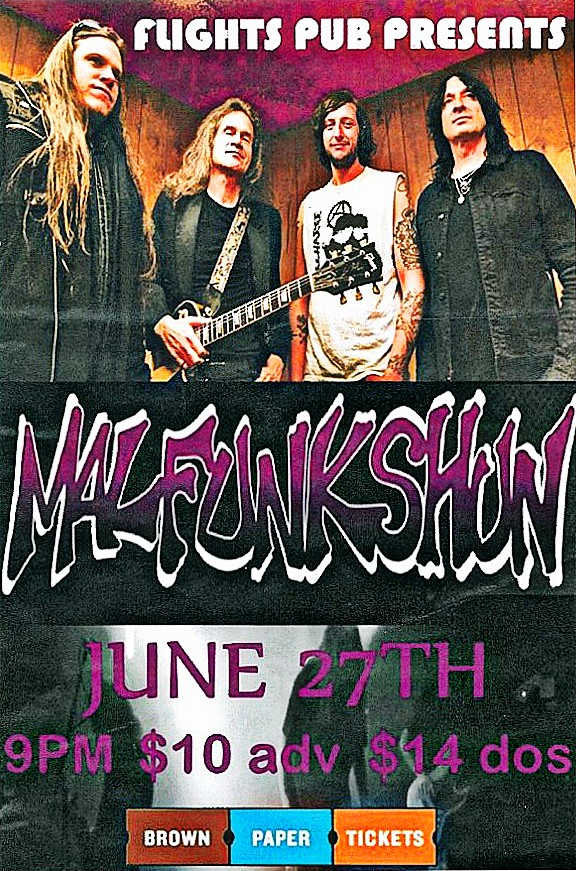 Malfunkshun Flights Pub Everett Poster